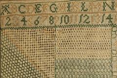 Georgian Embroidered Darning Sampler circa 1797 - 1745192