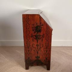 Georgian Fancy Painted Slant Front Desk England Circa Early 19th Century - 1402199