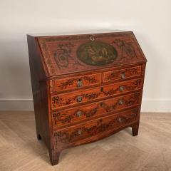 Georgian Fancy Painted Slant Front Desk England Circa Early 19th Century - 1402200