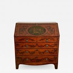 Georgian Fancy Painted Slant Front Desk England Circa Early 19th Century - 1407177