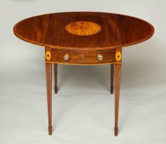 Georgian Inlaid Mahogany Pembroke Table - 660209