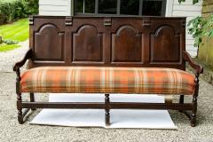 Georgian Oak Settle Bench circa 1780 - 1695481