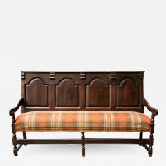 Georgian Oak Settle Bench circa 1780 - 1698339
