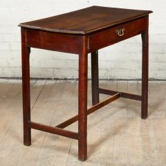 Georgian Oak Side Table with H Stretcher - 2007050