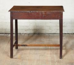 Georgian Oak Side Table with H Stretcher - 2007051