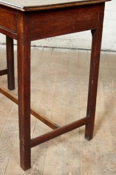 Georgian Oak Side Table with H Stretcher - 2007056