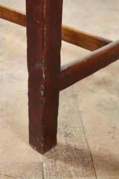 Georgian Oak Side Table with H Stretcher - 2007057