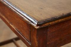 Georgian Oak Side Table with H Stretcher - 2007058