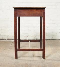 Georgian Oak Side Table with H Stretcher - 2007060