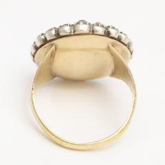 Georgian Sapphire and Old Mine Diamond Cluster Ring - 424983