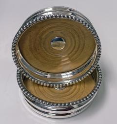 Georgian Sterling Silver Wine Coasters 1810 Thomas Blagden - 1821180