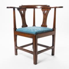 Georgian mahogany corner chair - 1723311