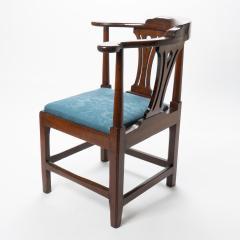 Georgian mahogany corner chair - 1723312