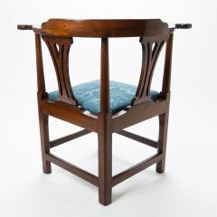 Georgian mahogany corner chair - 1723316