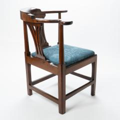 Georgian mahogany corner chair - 1723317