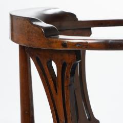 Georgian mahogany corner chair - 1723318