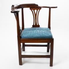 Georgian mahogany corner chair - 1723319