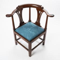 Georgian mahogany corner chair - 1723321