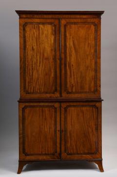 Georgian mahogany linen press - 1357649