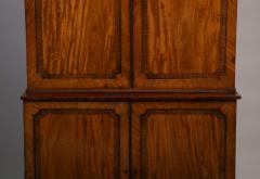 Georgian mahogany linen press - 1357651