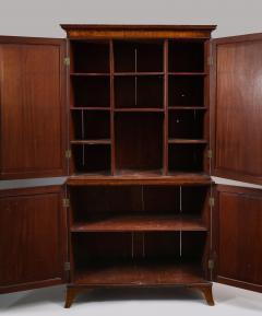 Georgian mahogany linen press - 1357655