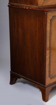 Georgian mahogany linen press - 1357656