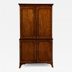 Georgian mahogany linen press - 1446476