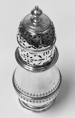Georgian style Britannia Standard Silver Caster Muffineer London 1909 C S Harris - 1631104
