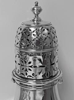 Georgian style Britannia Standard Silver Caster Muffineer London 1909 C S Harris - 1631105