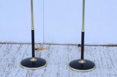 Gerald Thurston 1950s Adjustable Height Brass Floor Lamps Attributed To Gerald Thurston - 1794330