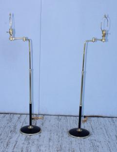 Gerald Thurston 1950s Adjustable Height Brass Floor Lamps Attributed To Gerald Thurston - 1794331
