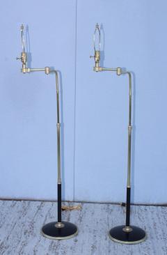 Gerald Thurston 1950s Adjustable Height Brass Floor Lamps Attributed To Gerald Thurston - 1794332