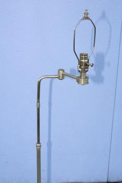 Gerald Thurston 1950s Adjustable Height Brass Floor Lamps Attributed To Gerald Thurston - 1794333