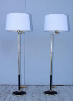 Gerald Thurston 1950s Adjustable Height Brass Floor Lamps Attributed To Gerald Thurston - 1794337