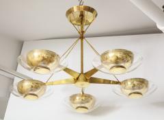Gerald Thurston Gerald Thurston For Lightolier Mid Century Modern Brass Chandelier  - 1041938