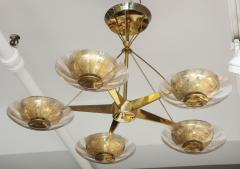Gerald Thurston Gerald Thurston For Lightolier Mid Century Modern Brass Chandelier  - 1041940