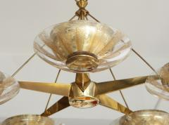 Gerald Thurston Gerald Thurston For Lightolier Mid Century Modern Brass Chandelier  - 1041941