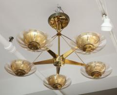Gerald Thurston Gerald Thurston For Lightolier Mid Century Modern Brass Chandelier  - 1041942
