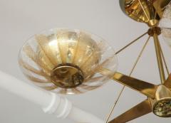 Gerald Thurston Gerald Thurston For Lightolier Mid Century Modern Brass Chandelier  - 1041943