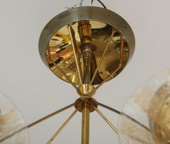 Gerald Thurston Gerald Thurston For Lightolier Mid Century Modern Brass Chandelier  - 1041944