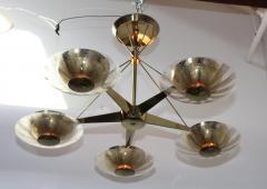 Gerald Thurston Gerald Thurston For Lightolier Modernist Brass Chandelier - 769616