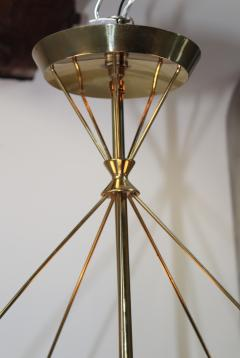 Gerald Thurston Gerald Thurston For Lightolier Modernist Brass Chandelier - 769618