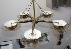 Gerald Thurston Gerald Thurston For Lightolier Modernist Brass Chandelier - 769620
