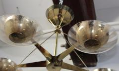 Gerald Thurston Gerald Thurston For Lightolier Modernist Brass Chandelier - 769622