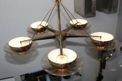 Gerald Thurston Gerald Thurston For Lightolier Modernist Brass Chandelier - 769624