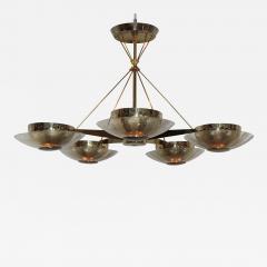 Gerald Thurston Gerald Thurston For Lightolier Modernist Brass Chandelier - 770597