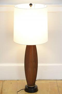 Gerald Thurston Gerald Thurston Parabolic Walnut and Brass Lightolier Table Lamp circa 1956 - 572777