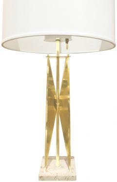 Gerald Thurston Gerald Thurston Sculptural Brass Table Lamp 1950s - 261497