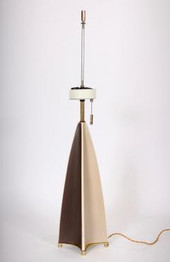Gerald Thurston Substantial Gerald Thurston Lightolier Porcelain Fin Table Lamp 1950s - 1603726