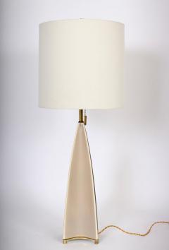 Gerald Thurston Substantial Gerald Thurston Lightolier Porcelain Fin Table Lamp 1950s - 1603727
